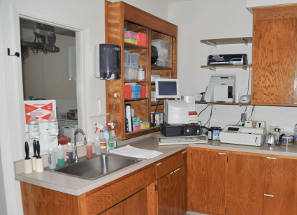 Our in house lab testing area.
